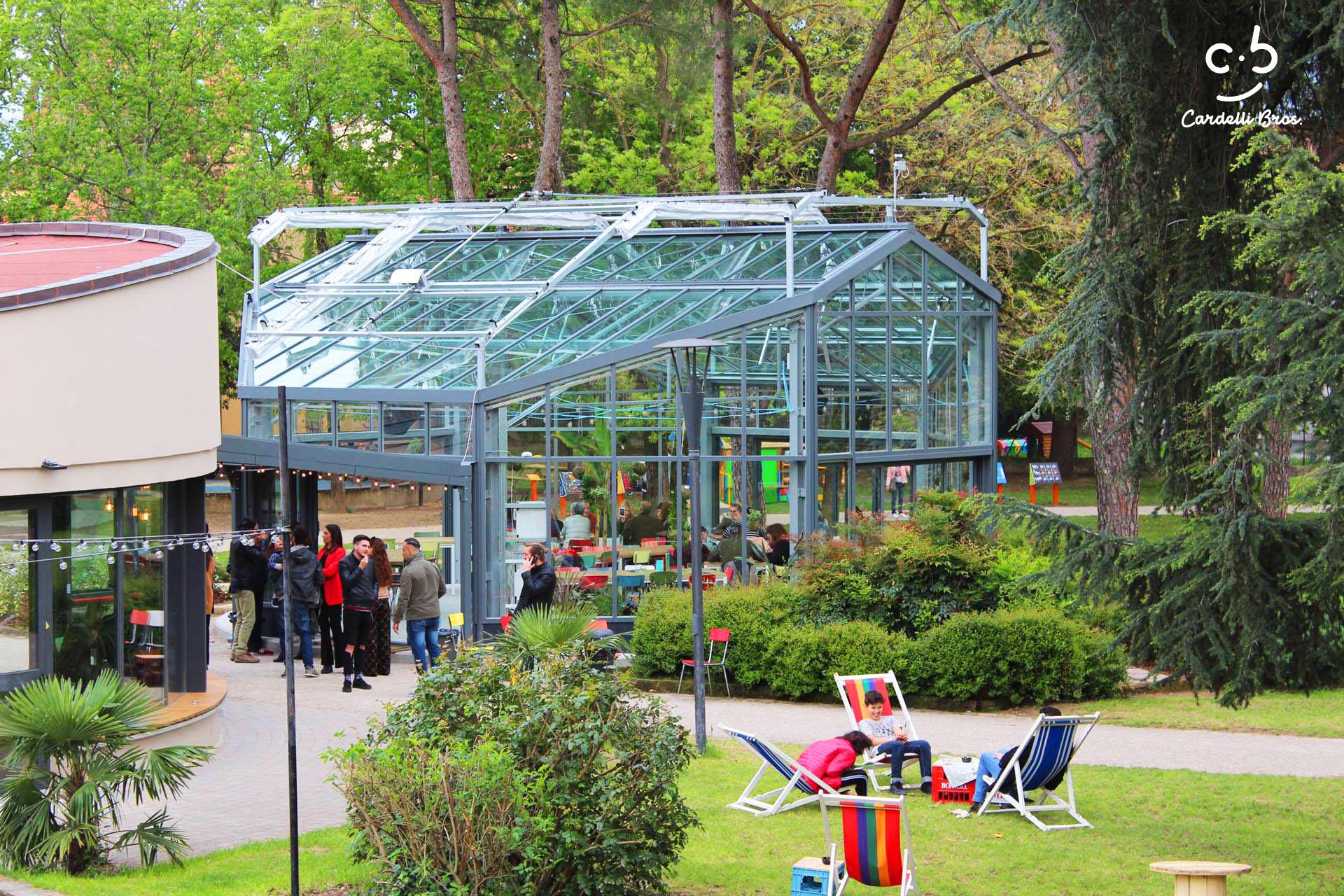 A Pistoia, una nuova serra bar ristorante nel parco Monteoliveto